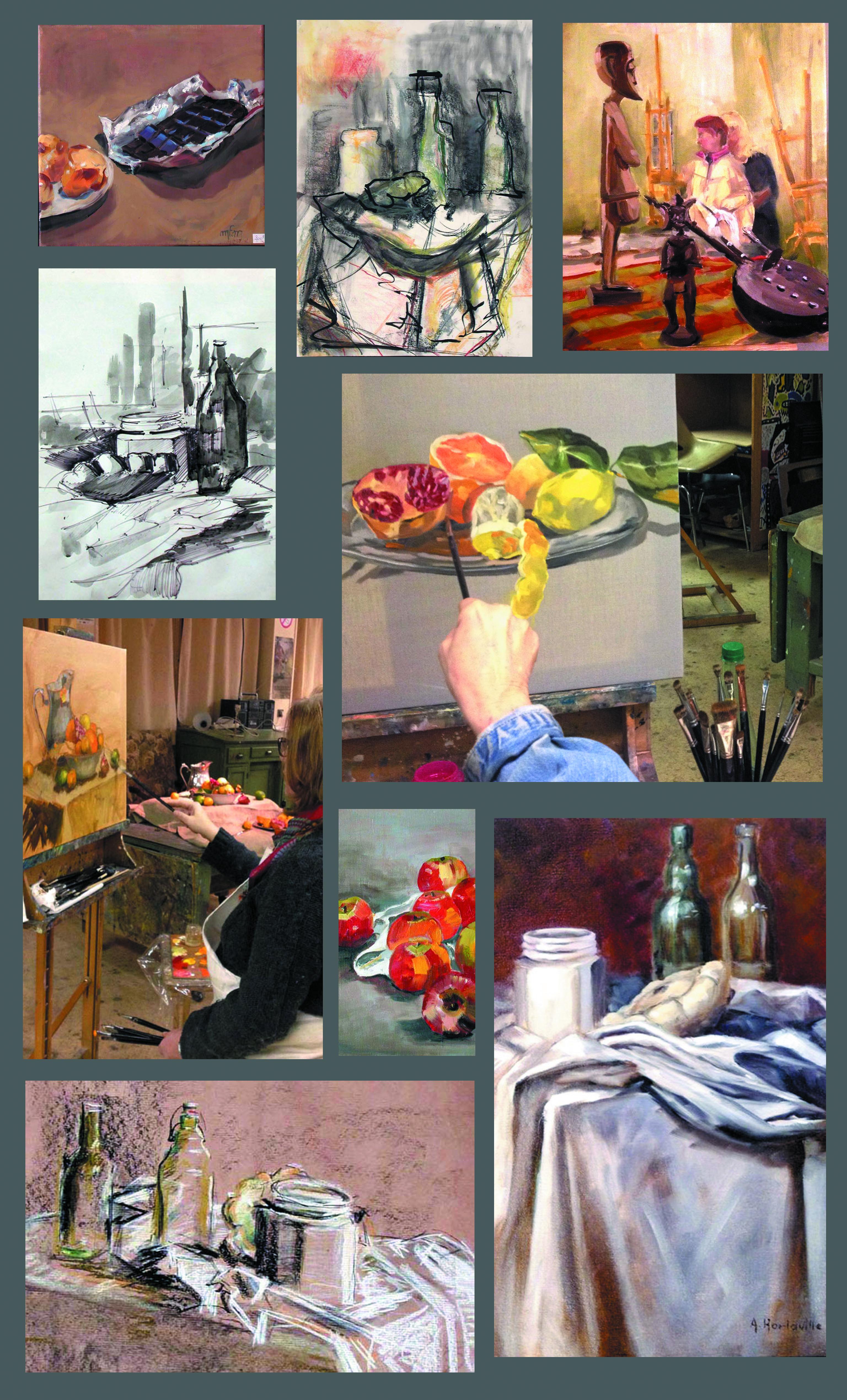 Dessin Peinture Maryse Garel Societe Artistique De Dourdan
